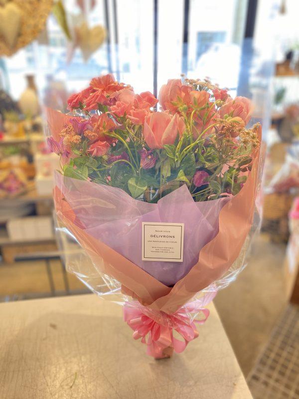 サーモンピンク花束